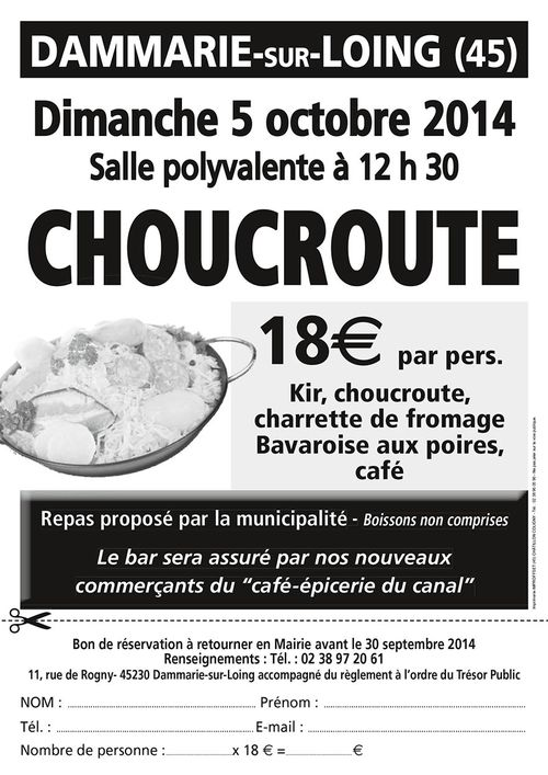 TRACT REPAS CHOUCROUTE