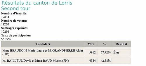 Resultats elections departementales