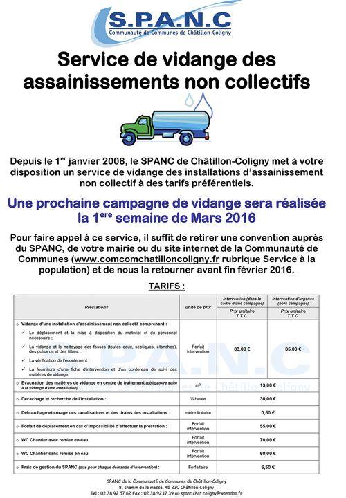 Affiche A3 pour mairie vidange campagne Mars 2016