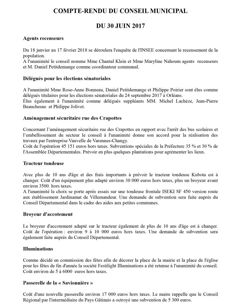 Conseil municipal du 30 juin-1