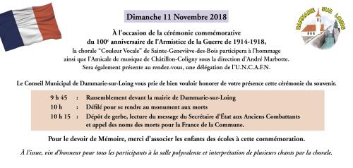 INVITATION 11 novembre 2018
